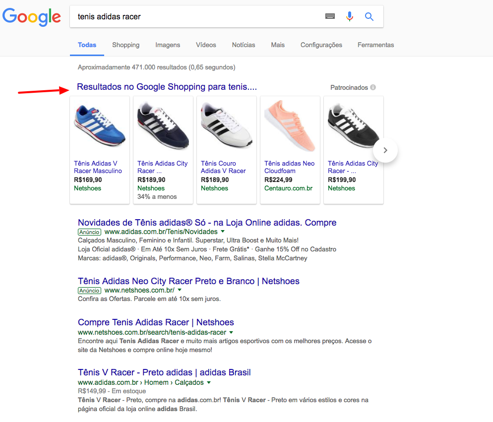 Google Shopping e RSWA